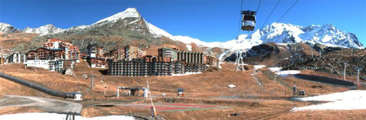 webcam val thorens station rond-point des pistes