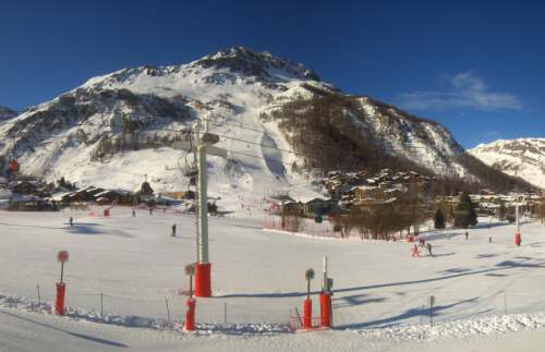 webcam val d'isere station